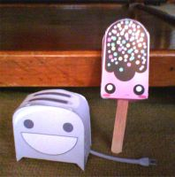 Paper Craft - Toaster+IceCream by ZockRock