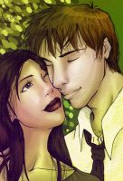 Green - Bella and Edward by amandioka