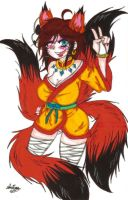 Masky cosplaying as a Kitsune girl by SweetxAriannaxEngel