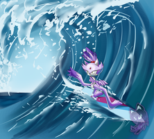 Blaze on waves by Neyla-The-Lioness