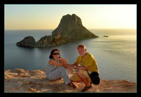 Me, My Wife, Sunset And Es Vedra by skarzynscy