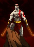 kratos cel shade by Anny-D