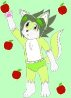 Megawolf the Emerald Baby Wolf by Zanten94
