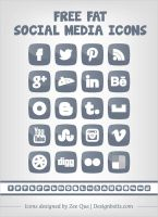 Fat Social Media Icons Set for 2013 blogs :D by Designbolts