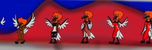 1950s Red Creasted Diva TG transformation by Nightmare-Moon-Fan