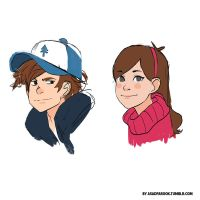 Gravity Falls sketches by faruuk-sama