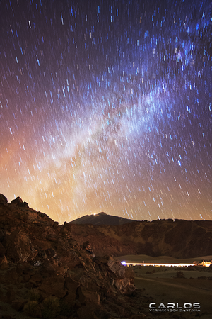 The Milky Way over Las Canadas del Teide by Solrac1993