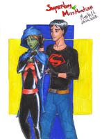Superboy and Miss Martian by Mariya14