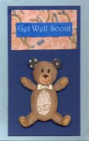 Get Well Soon Teddy Bear by MarsBars9