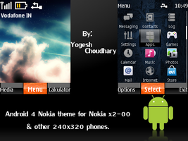 Android 4 Nokia theme for Nokia 240x320 phones by cyogesh56