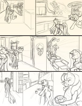 Chapter 11 page 7 sketches by FlyingPony