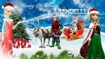 Frozen - 1920x1080 (Merry Christmas Arendelle 2) by CoGraphiC