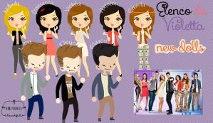 ELENCO DE VIOLETTA - DOLLS by AbbeyDenith