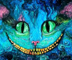 Cheshire In Acrylics by TravelingArtist93