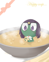 There is a frog on my soup!! by W-Lanier