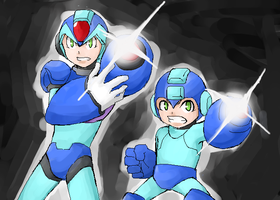 Mega Man! X! BUSTER! by Naitomeruu