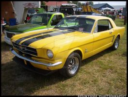 Yellow Classic Mustang by xcustomz
