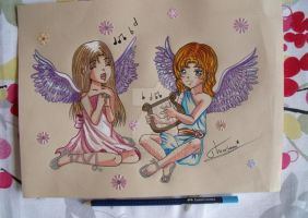 Haniah et Syriel by Theresem97