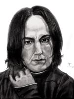 Severus Snape II by tanjadrawing
