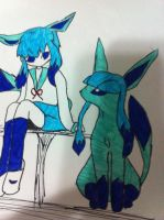 Glaceon Pokemon person ^^ by Sparklexter