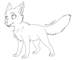 Free Foxcub Outline 2012 by RukiFox