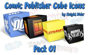 Comic Publisher Cube Icons-01 by KnightRider-SQ