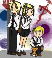 school bus stop          +FMA+ by jinyjin