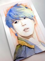 Jung Yonghwa -- CNBlue fan art painting by antuyetlai