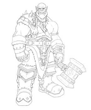 Orgrim (Lineart) by mitkoogrozev