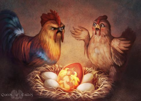 Contest entry - cheating chicken by queenofeagles