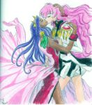 Utena and Anthy Kiss by RainbowSerenity