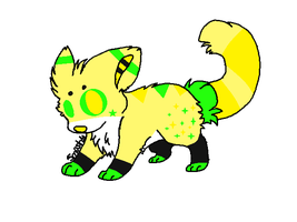 Neon Wolf Adoptable-Closed by Wolfies--Adopts