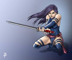 Psylocke Sketch Colored by ByronFong