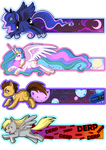MLP bookmarks by Willow-San