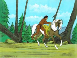 Lone Ranger Production Cel by AnimationValley
