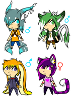 Neko Thingy adopts 3 ALL TAKEN by That-Alcoholic-Cat