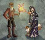 Noah and Shae by improbablesage