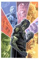 Green Lantern : Blackest Night by riq