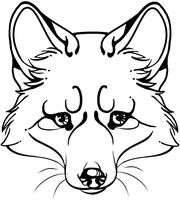fox head tattoo by FragileButts
