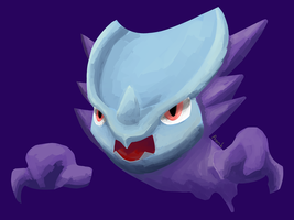 Pokemon Fusion: Haunter and Rhydon - Request by prankster-kun
