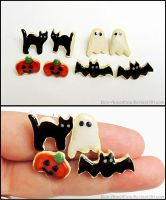 Sugar Cookie Halloween Post Earrings by Bon-AppetEats