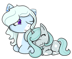 Snowy Cakes and Twinkle: Mane Exchange! by InuLover097