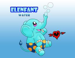 Elenfant - Water Starter Fakemon by JamalPokemon