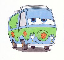 The Mystery Machine color by RenaTamer