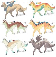 Adoptables 13 by Wuhzzles