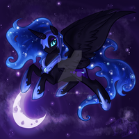 Nightmare Moon Shadocon Print Preview by BlueKazenate