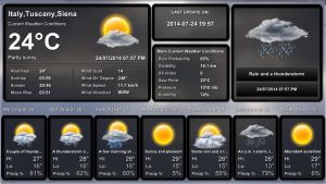 Weather Pro FULL SCREEN for xwidget (edited) by jimking