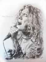 Robert Plant drawing by anasoriano