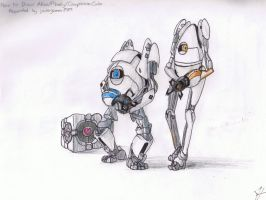 Atlas, P-body and the Cube by Vdeogamer