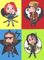 MCR Chibi Set by RubberDuck4LUNCH
